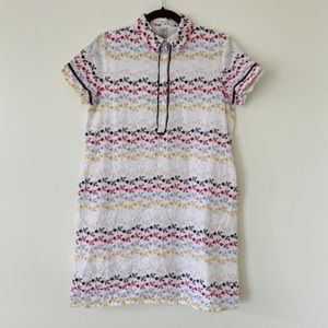 TRISTAN medium Cotton embroidered Coloured  Long Casual Midi fully lined  Dress